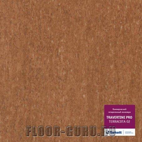 Коммерческий линолеум Tarkett Travertine PRO Terracotta 02