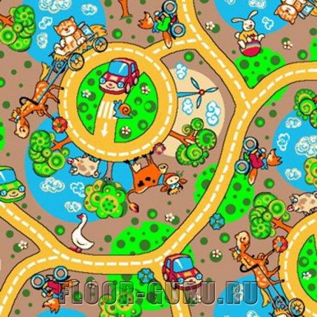 Детский ковролин Карусель 170 - цветной