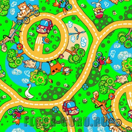 Детский ковролин Карусель 600 - цветной