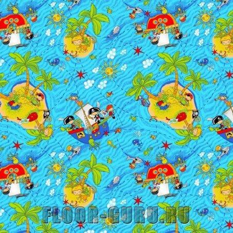Детский ковролин Острова - цветной