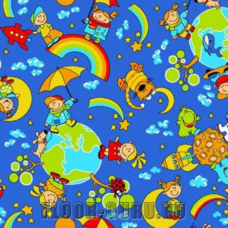Детский ковролин Радуга 500 - цветной