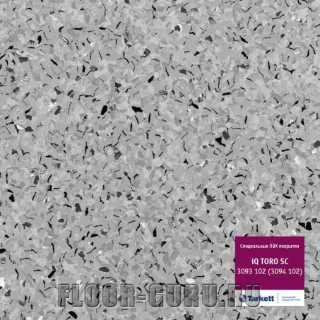 Коммерческий гомогенный линолеум Tarkett iQ TORO SC 102