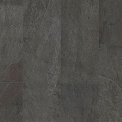 Замковая виниловая плитка Quick-Step Ambient Click AMCL40035 Сланец черный